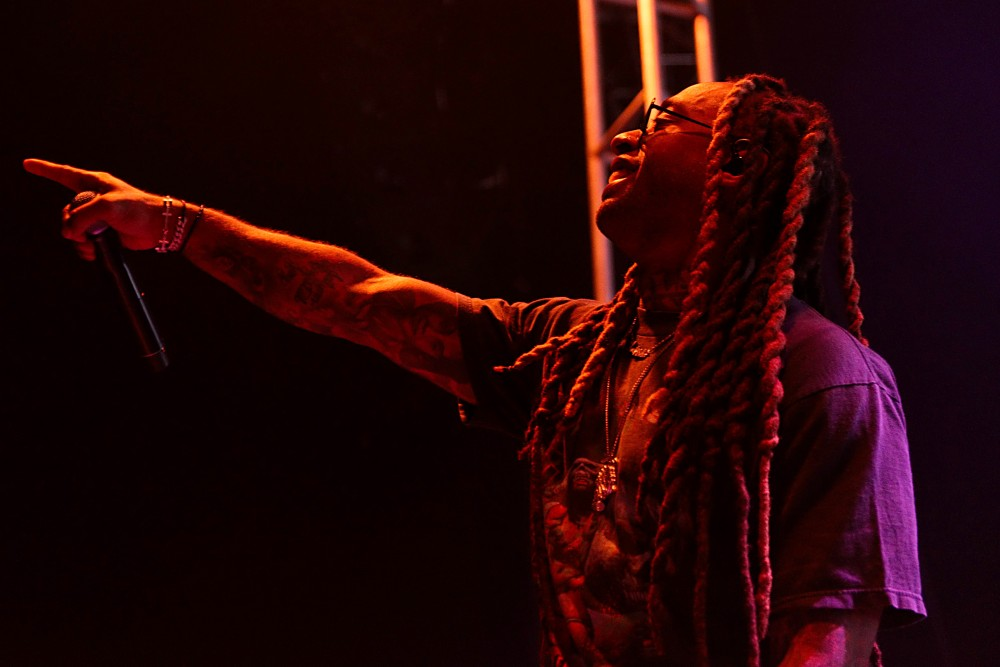 Ty Dolla Sign performs during the 2017 homecoming concert at TCF Bank Stadium on Friday.