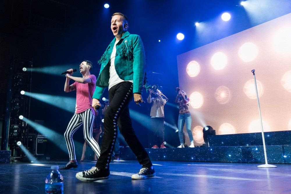 Macklemore preforms at the Palace Theater on the St. Paul stop of his Gemini U.S. Tour on Thursday, Nov. 2.