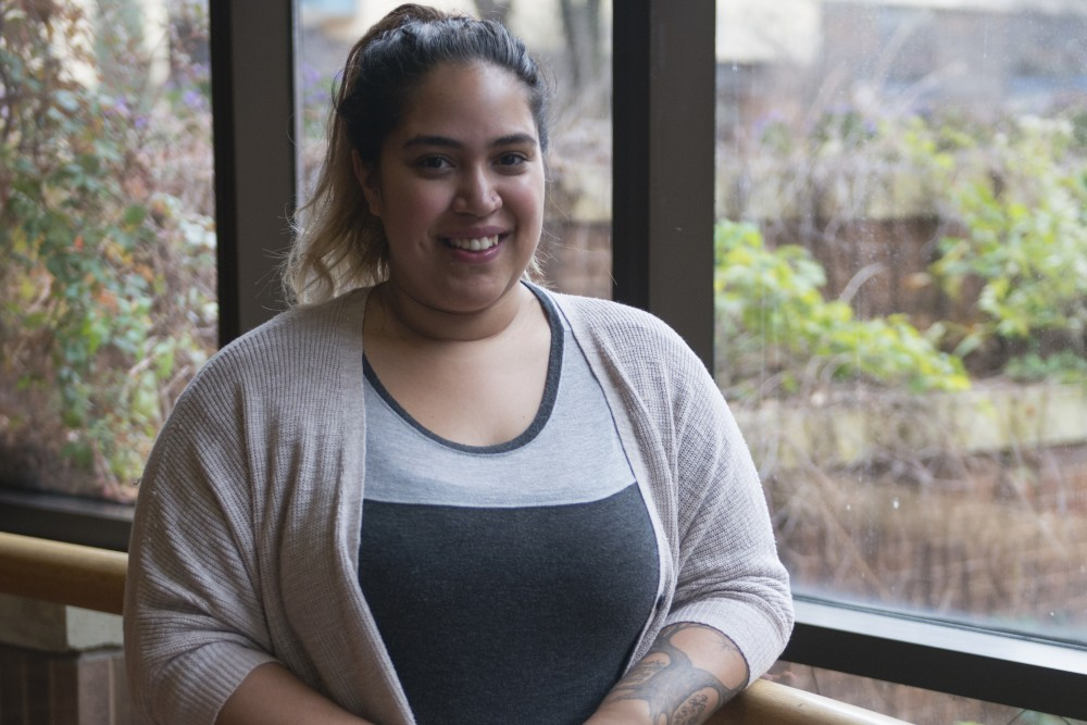 Ileana Mejia poses for a portrait on Sunday, Nov. 5 at the Humphrey School of Public Affairs.