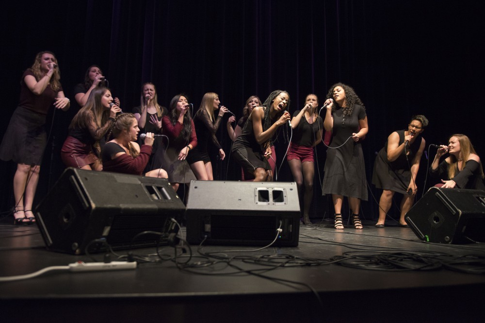 The Enchantments performs during the University's A Cappell-Off at Coffman Memorial Union on Friday, Nov. 3.