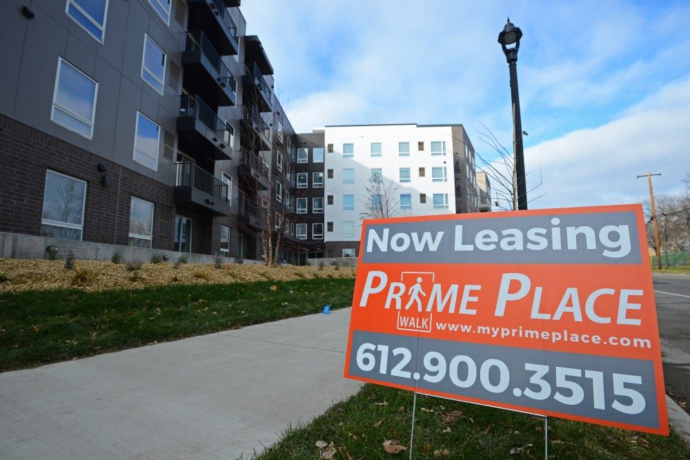 Prime Place Apartments, seen under construction on Sunday, Nov. 12.