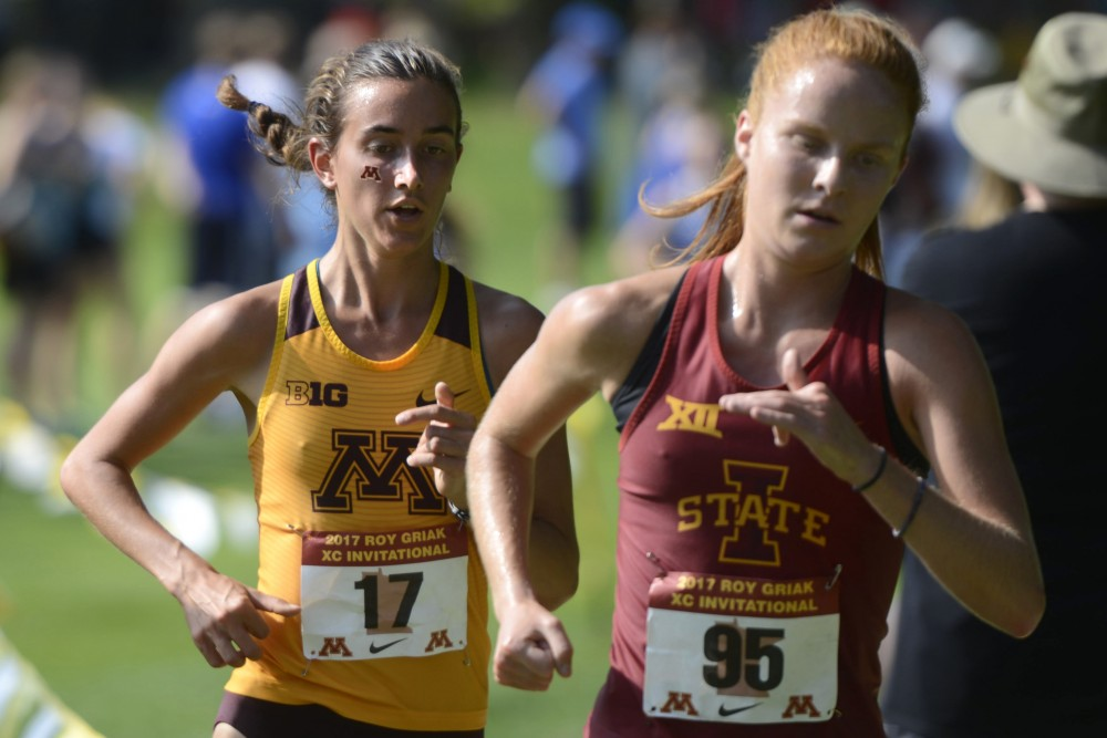 Megan Hasz competes at the Roy Griak Invitational on Saturday, Sept. 23 at the Les Bolstad Golf Course in St. Paul.
