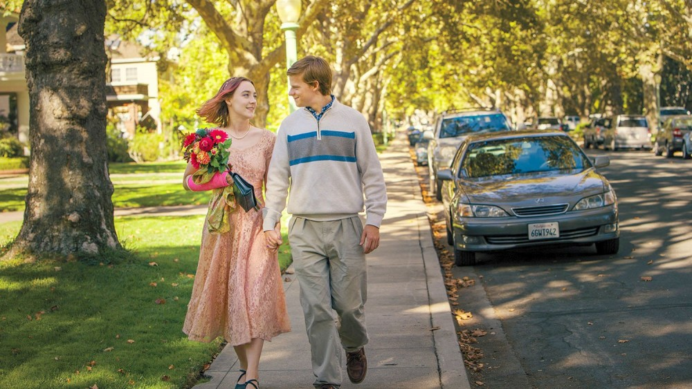 Saoirse Ronan and Lucas Hedges in Lady Bird. Photo courtesy of A24