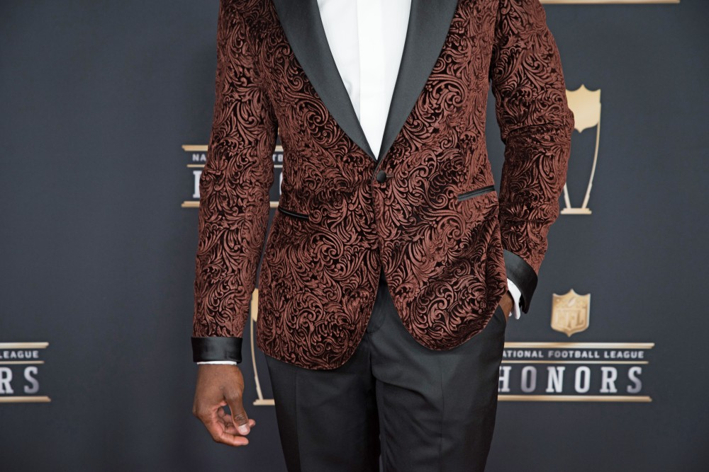 New Orleans Saints player Alvin Kamara on the red carpet at the NFL Honors awards on Saturday, Feb. 3 at Northrop Auditorium.