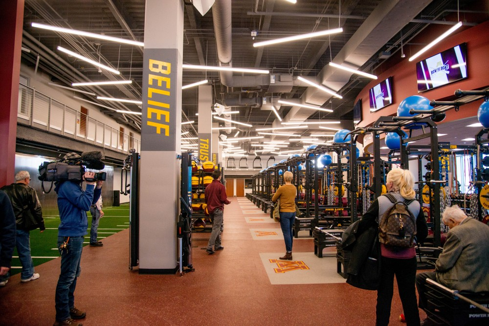 A cardio and low-impact training area in the Athletes Village Football Performance Center as seen on a tour Saturday, Feb. 10.