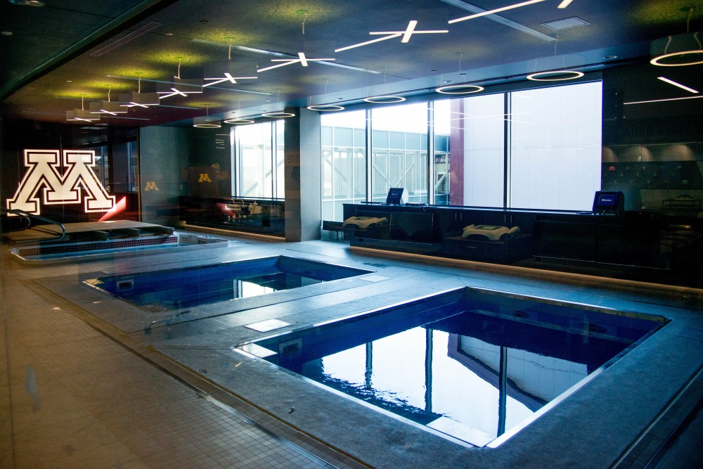Pools as seen on a tour of an athletic medicine center in the Football Performance Center on Saturday, Feb 10.