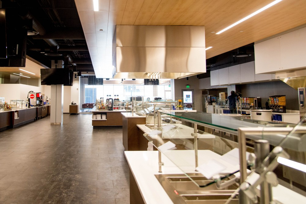 The Nutrition Center, as seen during a tour of the Athlete's Village on Saturday, Feb. 10. Once open, the center will be available to all UMN students as a weekday dining hall option.
