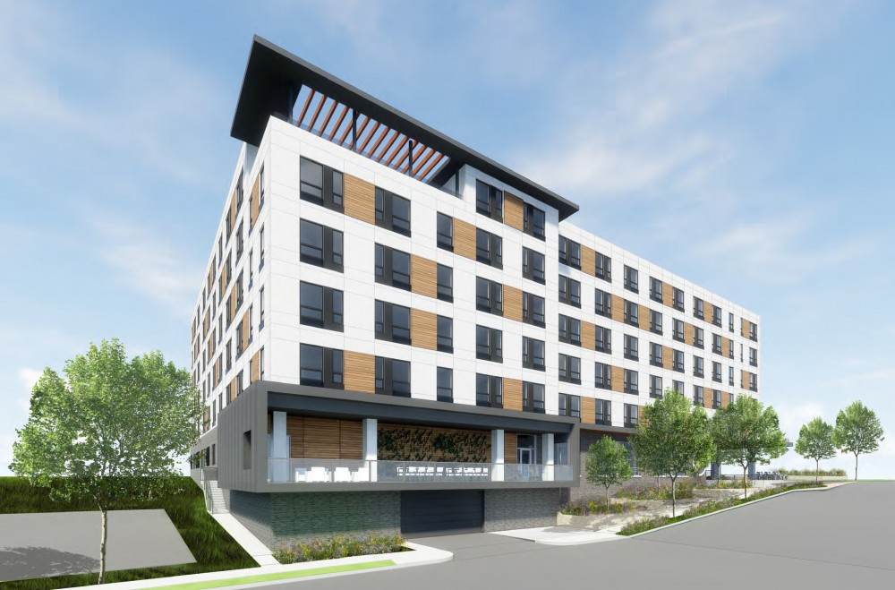 A rendering of the proposed 4th street lofts in Prospect Park