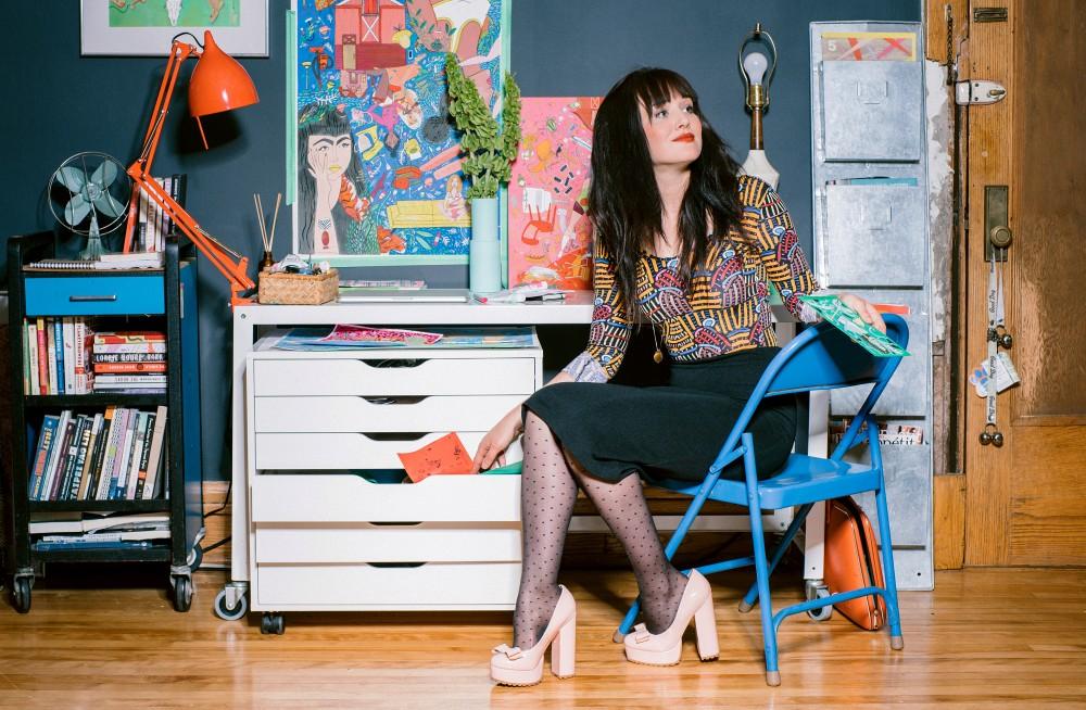 Artist Meghan Murphy in her home.