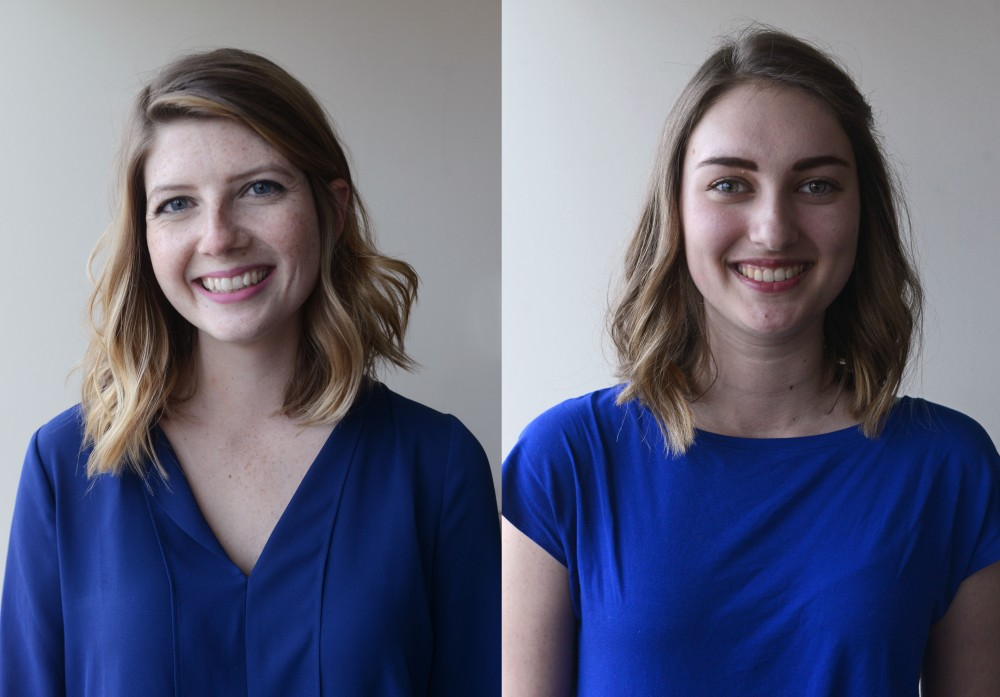 Kelly Busche and Genevieve Locke, the new editor in chief and business operations officer for the Minnesota Daily.