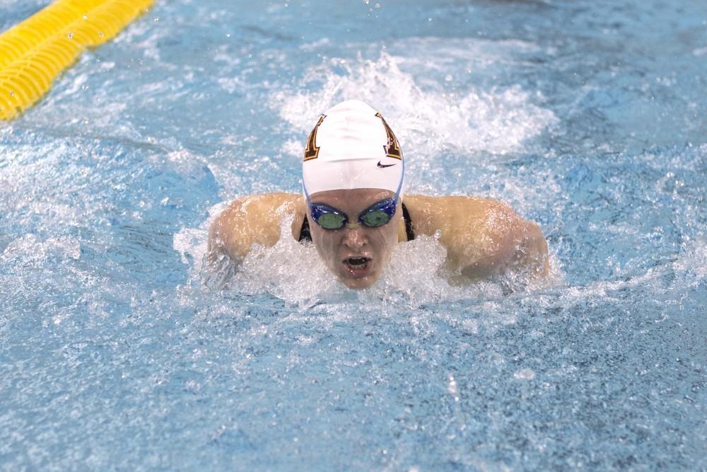 Senior Danielle Nack swims the 200 Yard Butterfly during the Minnesota Invitational on Saturday, Dec. 2, 2017 at the Jean K Freeman Aquatic Center.