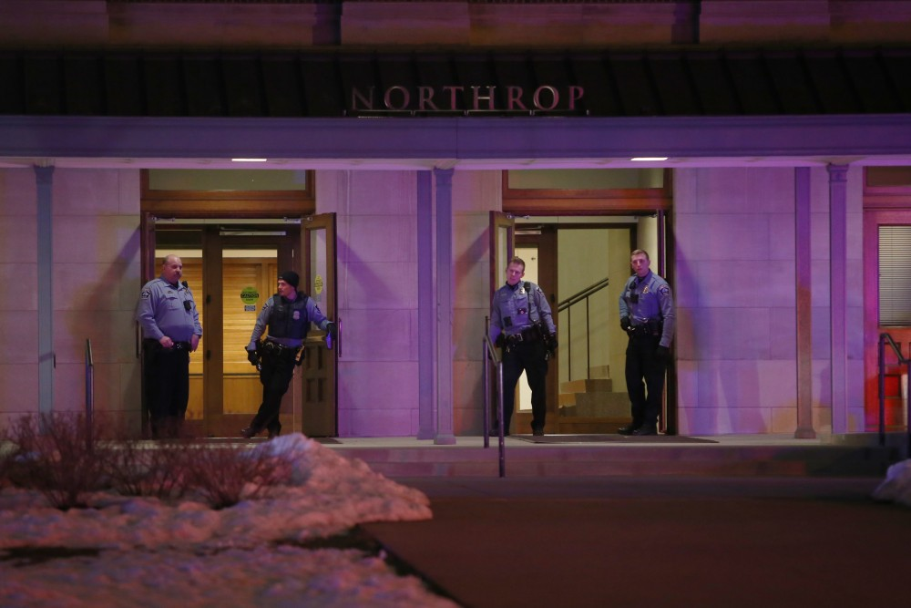 The Minneapolis Police Department and University of Minnesota Police Department responded to a disturbance at Northrop following the Somali Student Association's Somali Night event on Friday, April 20, 2018.
