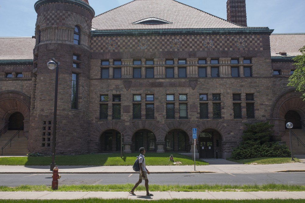 <p>A view of Pillsbury Hall on Monday, May 28, 2018. Pillsbury Hall will be the new home for the English department due to funding from the bonding bill.</p>