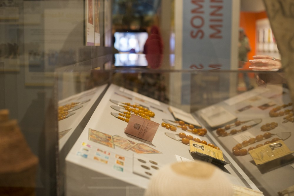 Somali jewelry is on display at the History Center's new