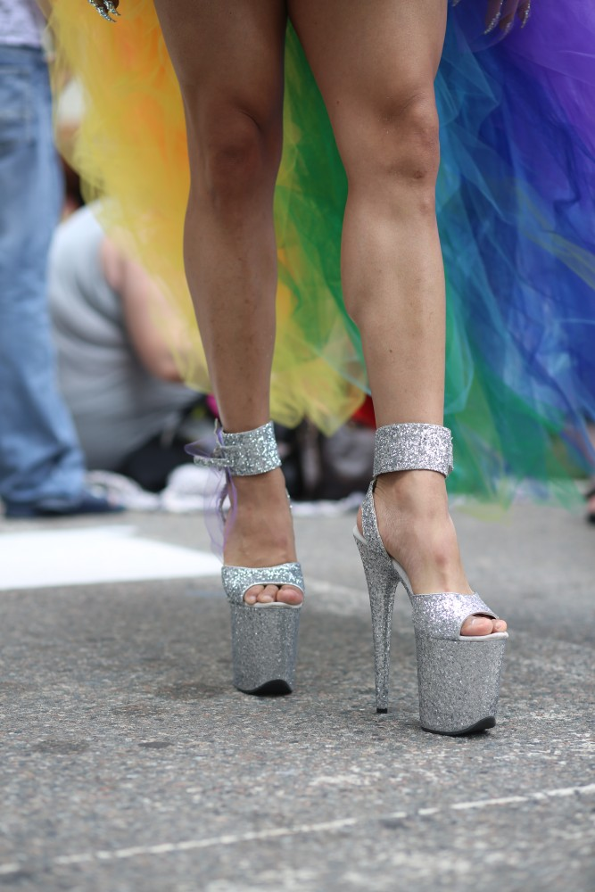 Fashion statements during the 2018 Twin Cities Pride parade included six inch heels and rainbow capes on Sunday, June 24.