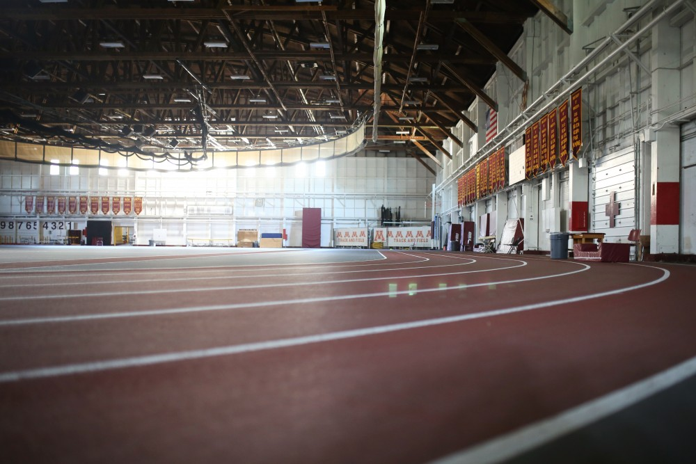 The University of Minnesota Fieldhouse is seen on Monday, July 16.