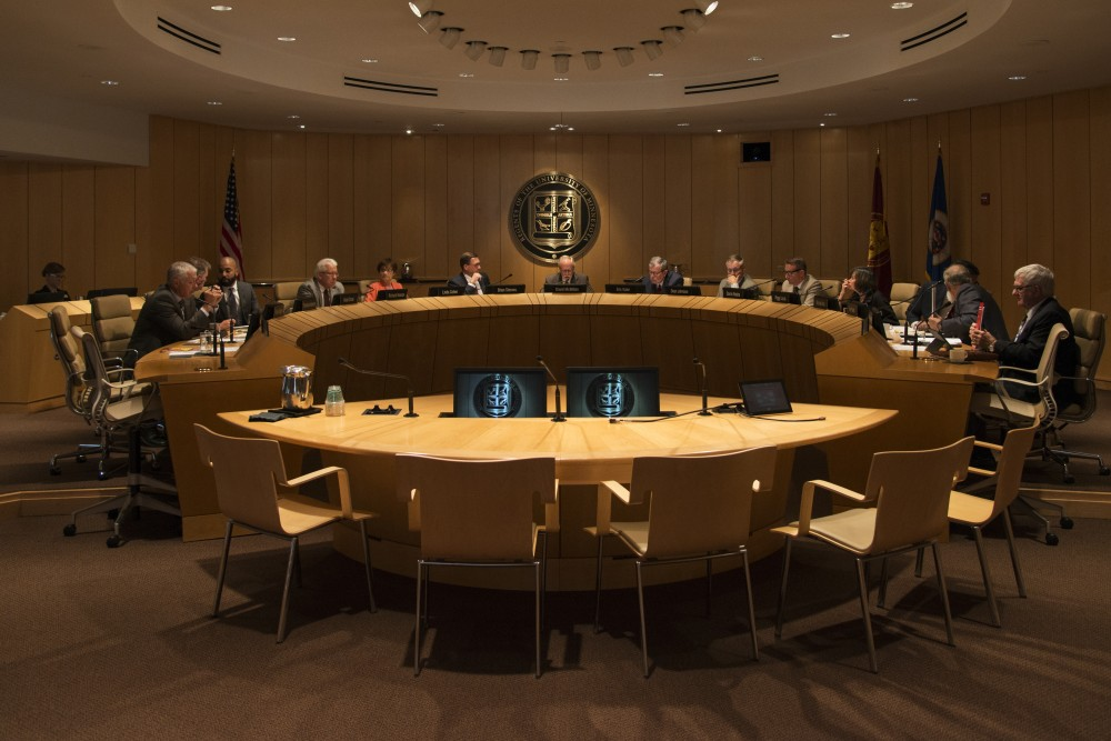 The University's Board of Regents convene on Friday, Sep. 14, 2018 at McNamara Alumni Center.