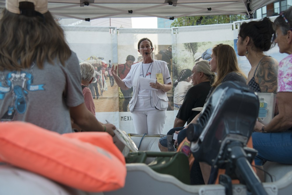 MSF Volunteer Astrid Borjesson of Sweden explains the vulnerabilities that refugees face at the Doctors Without Borders