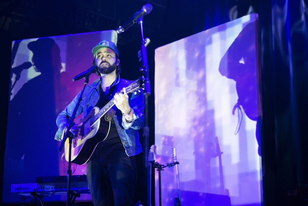 Alejandro Rose-Garcia of Shakey Graves performs at Palace Theater on Saturday, Sept. 29, 2018 in Saint Paul. Rose-Garcia began the show solo, bringing his accompanying musicians on stage a few songs into the set.