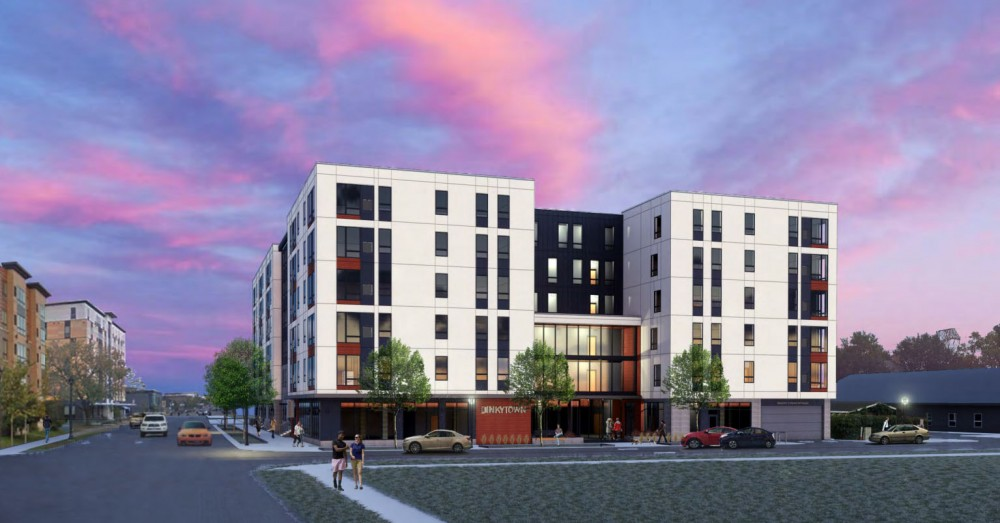A rendering of a multi-unit development that is being proposed Oct. 2 to the Marcy-Holmes Neighborhood Association.