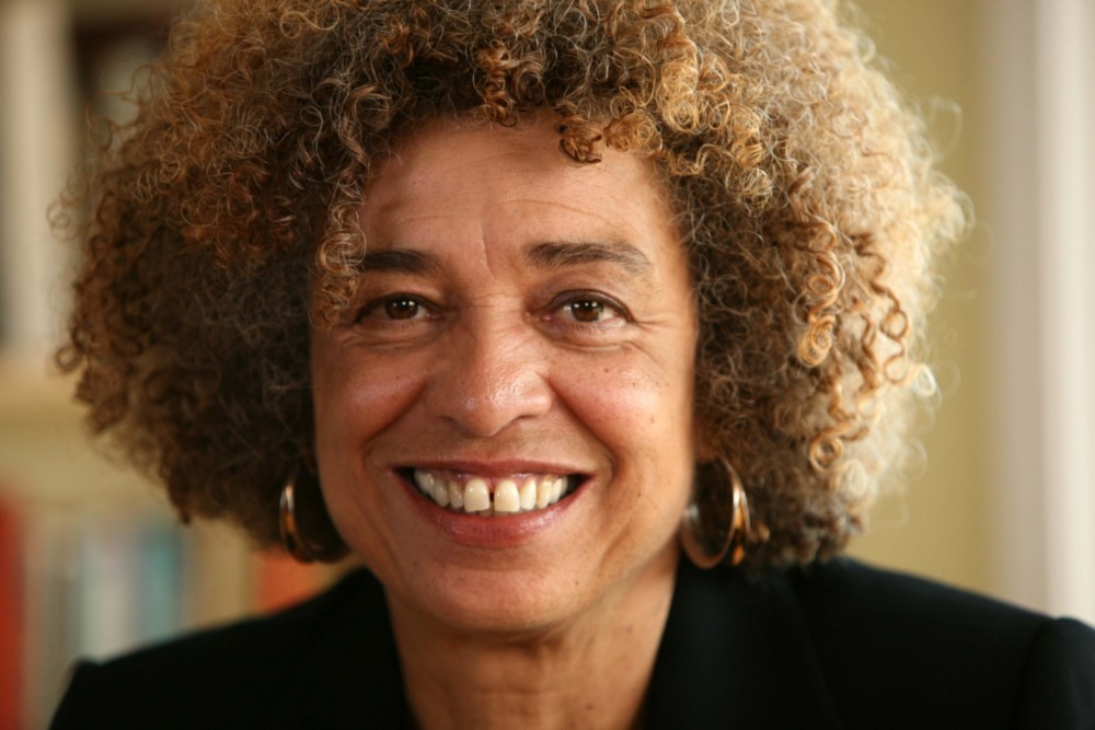 Angela Davis spoke at Northrop Auditorium.