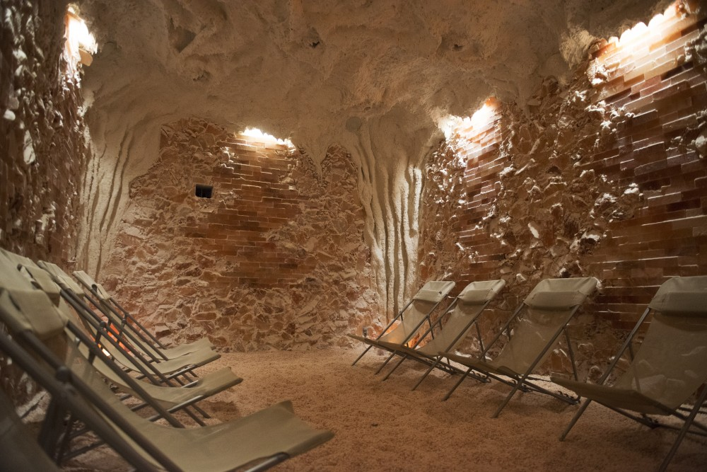 The main floor salt cave at Salt Cave Minneapolis as seen on Tuesday, Oct. 9. The cave is said to have healing properties.