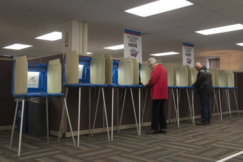 The Downtown Minneapolis Early Vote Center is seen on Wednesday, Oct. 10, 2018. The center opened for the 2018 general election on Friday, Sept. 21, and will be open until Nov. 5, the day before Minnesota votes.