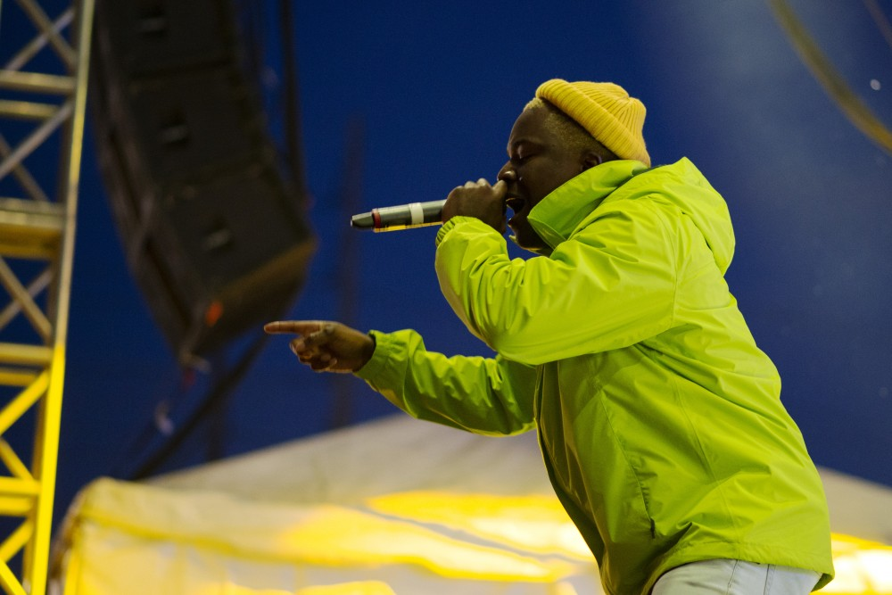 Rapper IDK performs at Hell's Island Stage for the crowd at Zombie Pub Crawl on Saturday, Oct. 13.