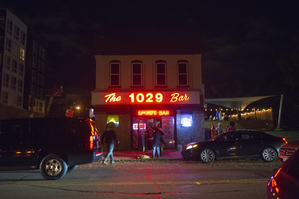 The 1029 Bar as seen on Saturday, Oct. 13. The 1029 Bar was one of the stops along the Zombie Pub Crawl.