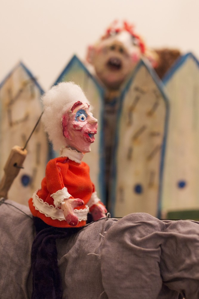 Professional Puppeteer Liz Howls' puppet is seen on Friday, Oct. 26, 2018. Howls performs shows in the Minneapolis area.