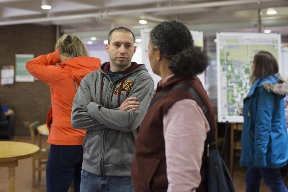 Faculty provide input on the future of the St. Paul campus on Friday October 24, 2018 in Ruttan Hall.
