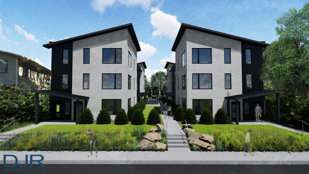 A rendering of the development at 934 and 938 15th Ave SE