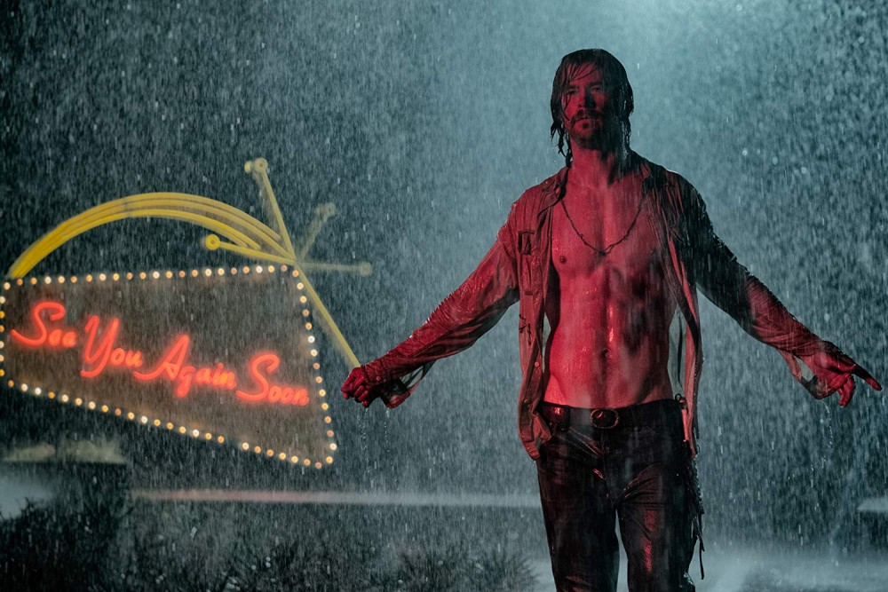 Chris Hemsworth stars as Billy Lee in Bad Times at the El Royale. Courtesy Twentieth Century Fox.
