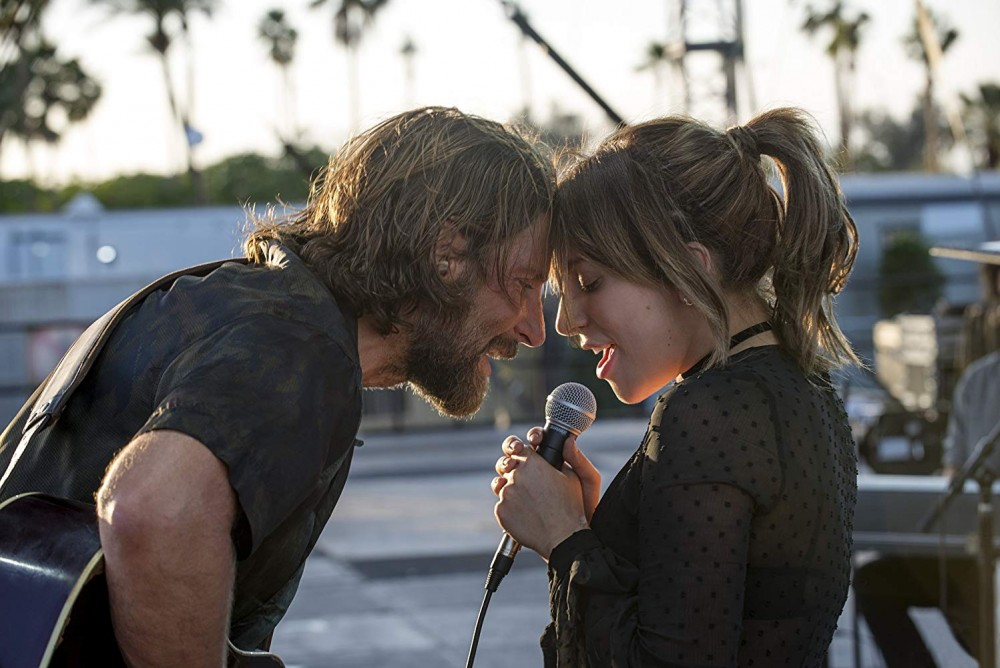 Bradley Cooper and Lady Gaga star together in the film A Star Is Born