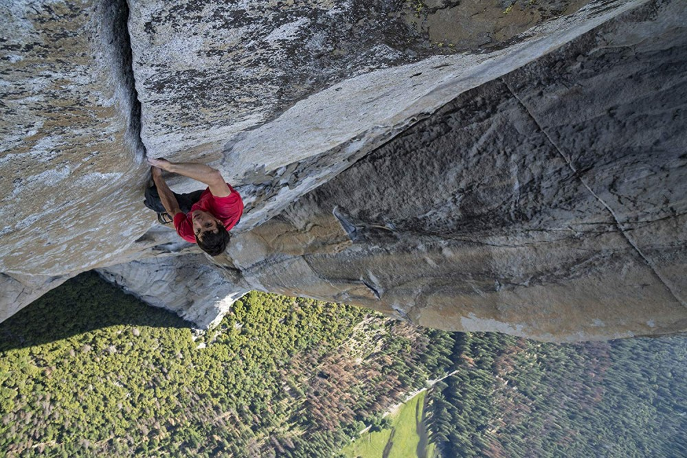 Alex Honnold star in the National Geographic movie Free Solo.