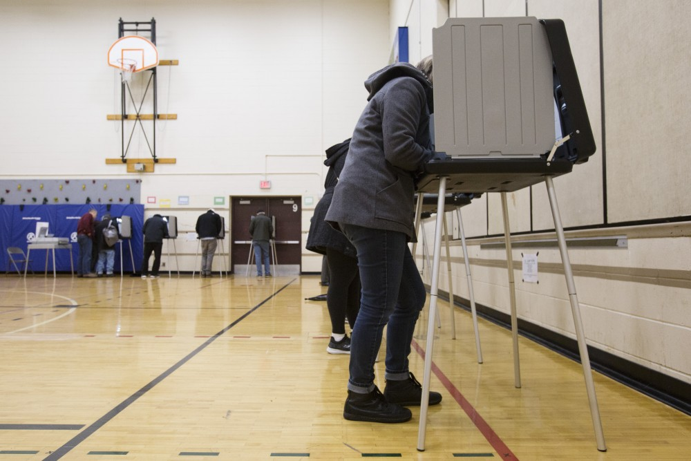 Marcy-Holmes neighborhood residents vote on Tuesday, Nov. 6 at Marcy Open School in Minneapolis.