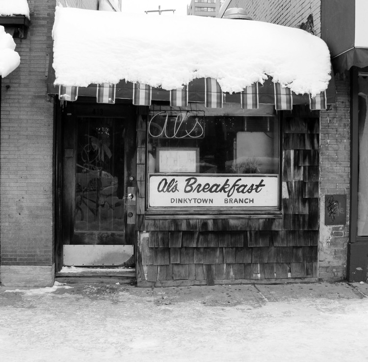 An archived photo of Al's Breakfast, which has been open since 1950.