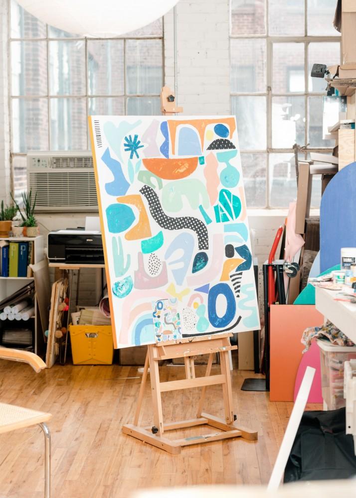 Artist Ashley Mary's studio