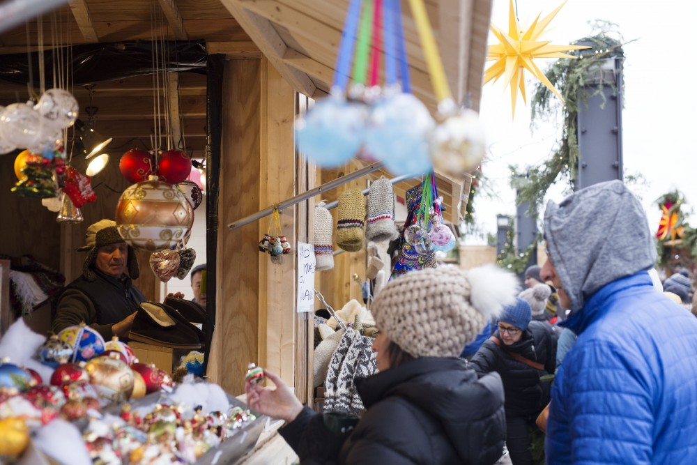 The European Christmas Market is open for business on Dec. 2 in Saint Paul. The open-air market features vendors selling European holiday items.