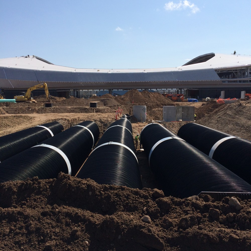 Saint Paul is developing innovative methods financing for a shared rainwater harvesting system at the Allianz Field site.