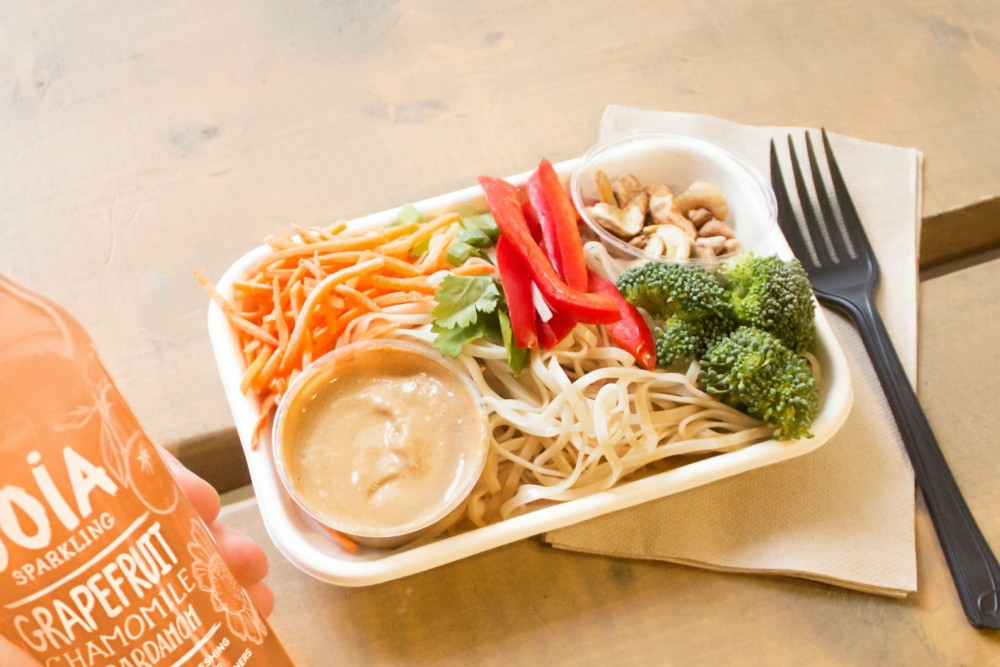 A Pad Thai meal is displayed in one of Simpls' downtown locations. The new location will open at 712 Washington Ave SE.