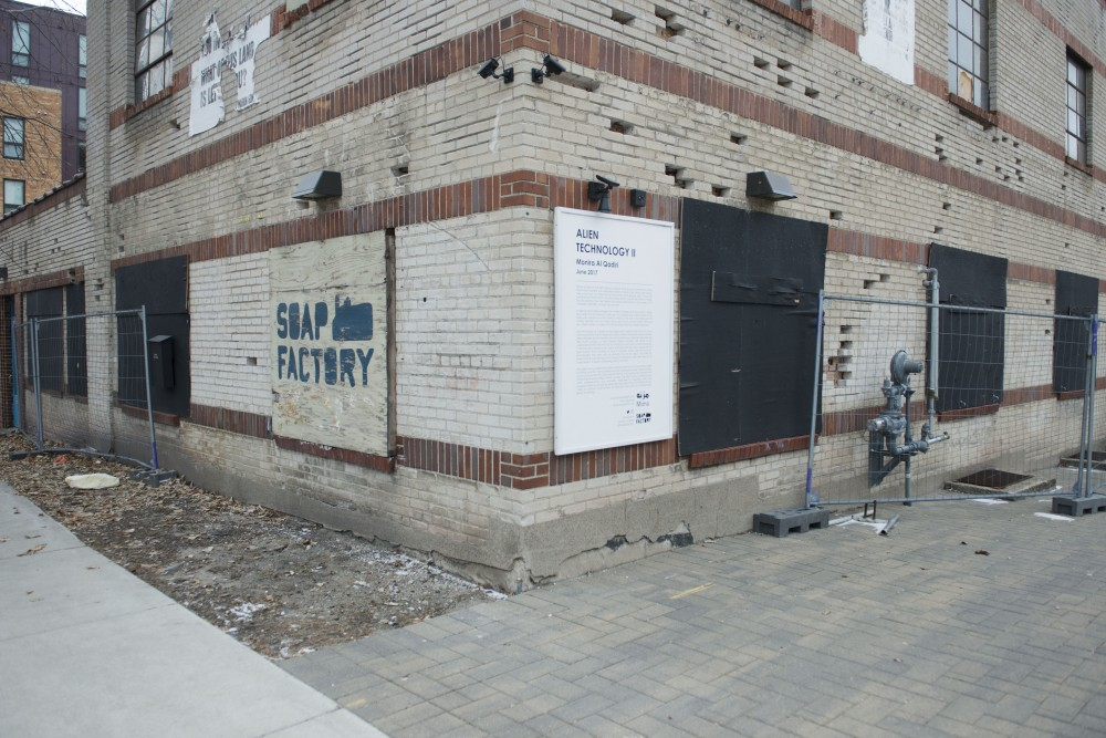 The Soap Factory, which began renovations in 2017 and stopped operations in 2018 due to lacking funds, is seen with its windows boarded up on Monday, Jan. 21 in Minneapolis. Board members and supporters of the art non profit are working to buy the property back.