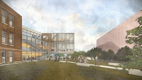 A rendering of the new Child Development Center