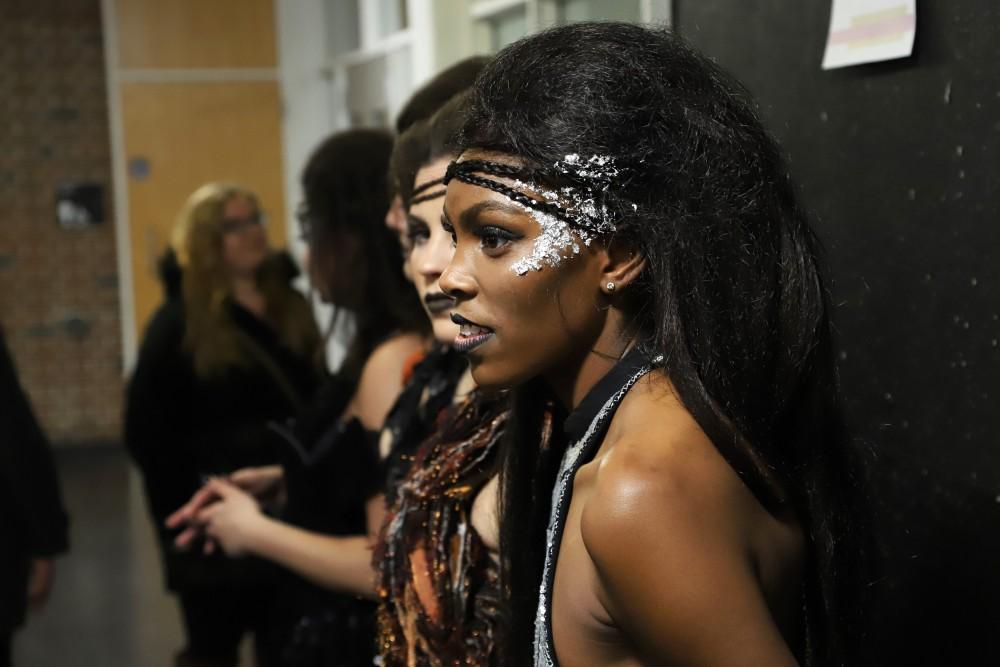 Mariah Shingler waits back stage during
