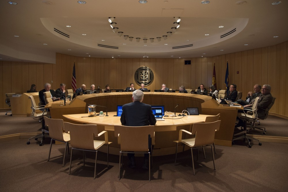 The University's Board of Regents convene at the McNamara Alumni Center on Friday, Feb. 8, 2019.