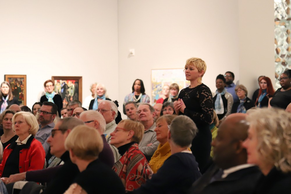 Alexis Sword participates during an opera gospel fusion event at Weisman Art Museum on Saturday, Feb. 9.