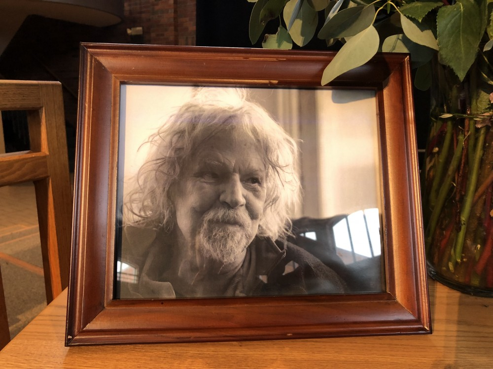 A photograph of local rhythm and blues legend Willie Murphy at his memorial service on Saturday, Feb. 16.