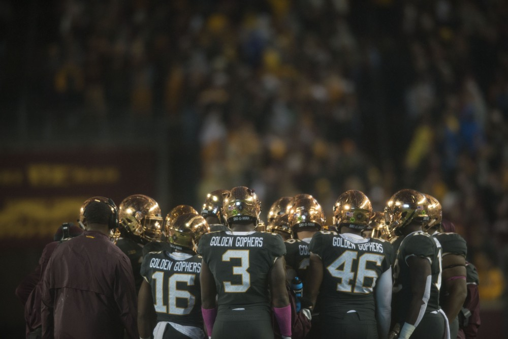 The Gophers won 38-31 with a late touchdown by wide receiver Rashod Bateman on Friday, Oct. 26, 2018 at TCF Bank Stadium.