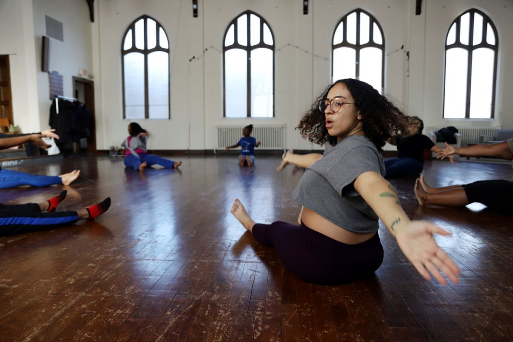Alicia Jameel dances at a session called