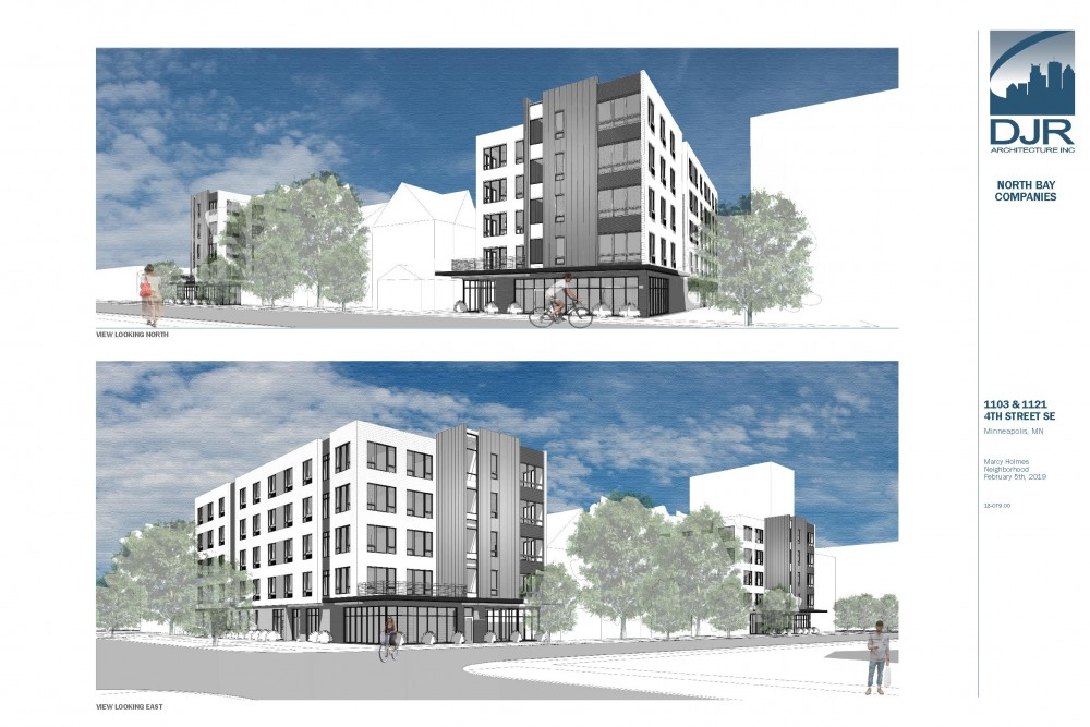 A rendering of 1103 & 1121 4th St. SE developments
